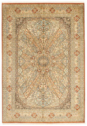 Kashmir pure silk carpet XVZC438