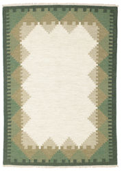 Kilim Dorris - Green carpet CVD13824