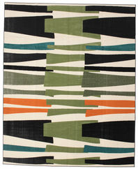 Stripe Over and Under Flatweave rug CVD11848