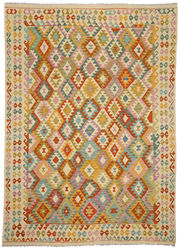 Kilim Afghan Old style carpet ABCO356