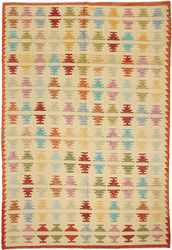 Kilim Afghan Old style carpet ABCO599