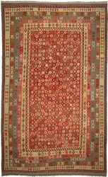 Kilim Afghan Old style carpet ABCO800