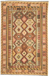 Kilim Afghan Old style carpet ABCO2812
