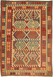 Kilim Afghan Old style carpet ABCO2806