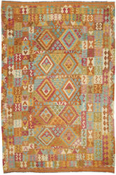 Alfombra Kilim Afghan Old style ABCO253