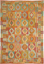 Kilim Afghan Old style carpet ABCO259