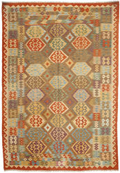 Kilim Afghan Old style carpet ABCO602