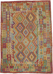 Kilim Afghan Old style carpet ABCO393