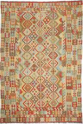 Kilim Afghan Old style carpet ABCO417