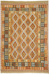 Kilim Afghan Old style carpet ABCO418
