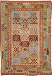 Kilim Afghan Old style carpet ABCO213