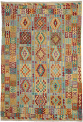 Kilim Afghan Old style carpet ABCO348