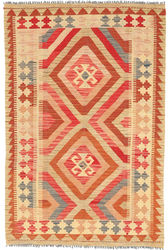 Kilim Afghan Old style carpet ABCO2606