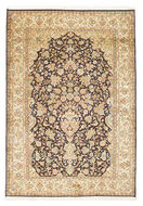 Kashmir pure silk carpet VXZZK119