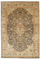Kashmir pure silk carpet VEXG79