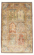 Kashmir pure silk carpet VEXG206