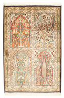 Kashmir pure silk carpet VEXG353