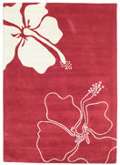 Alfombra Blooming Lillies Handtufted - Rojo CVD6389