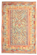 Kilim Afghan Old style carpet ABCK1299