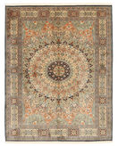 Kashmir pure silk carpet XVZA1
