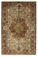 Kashmir pure silk carpet XVZB6